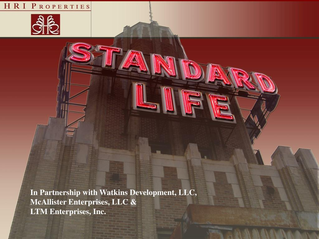In Partnership with Watkins Development, LLC,