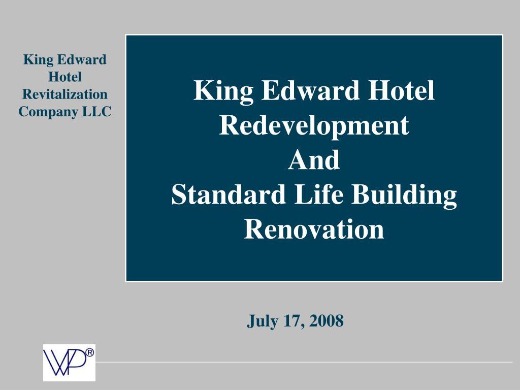 King Edward Hotel Redevelopment