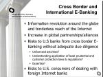 cross border and international e banking