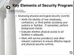 key elements of security program11