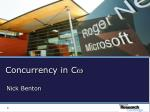 concurrency in c