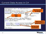 current data access in c