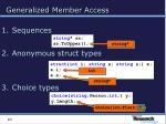 generalized member access