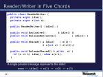 reader writer in five chords