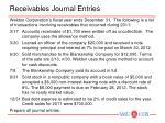receivables journal entries