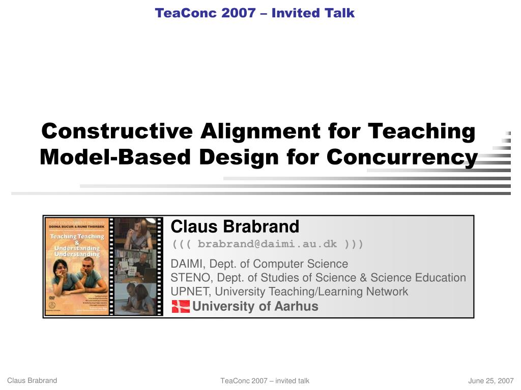 constructive alignment for teaching model based design for concurrency l.