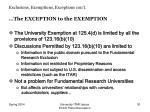 exclusions exemptions exceptions con t30