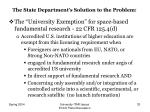 the state department s solution to the problem