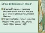 ethnic differences in health