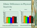 ethnic differences in physical inactivity
