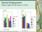 gainful employment adults aged 30 60 years in oslo