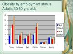 obesity by employment status adults 30 60 yrs olds