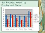 self reported health by employment status