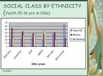 social class by ethnicity youth 15 16 yrs in oslo