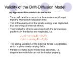 validity of the drift diffusion model