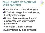 challenges of working with parents17