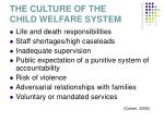 the culture of the child welfare system
