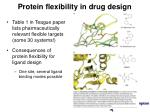 protein flexibility in drug design16