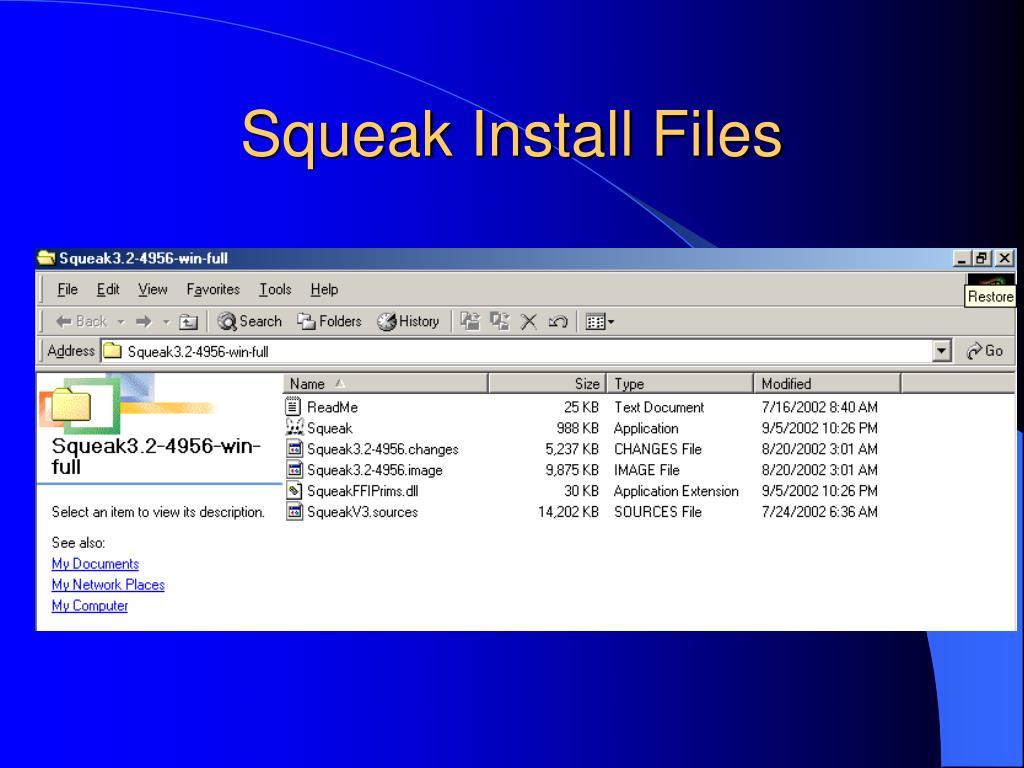 Squeak Install Files