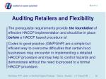 auditing retailers and flexibility58