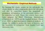 mechanistic empirical methods52