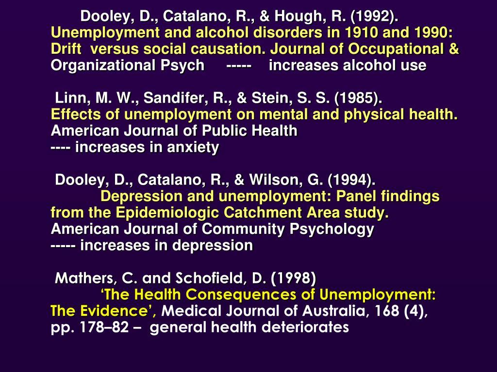 Dooley, D., Catalano, R., & Hough, R. (1992).