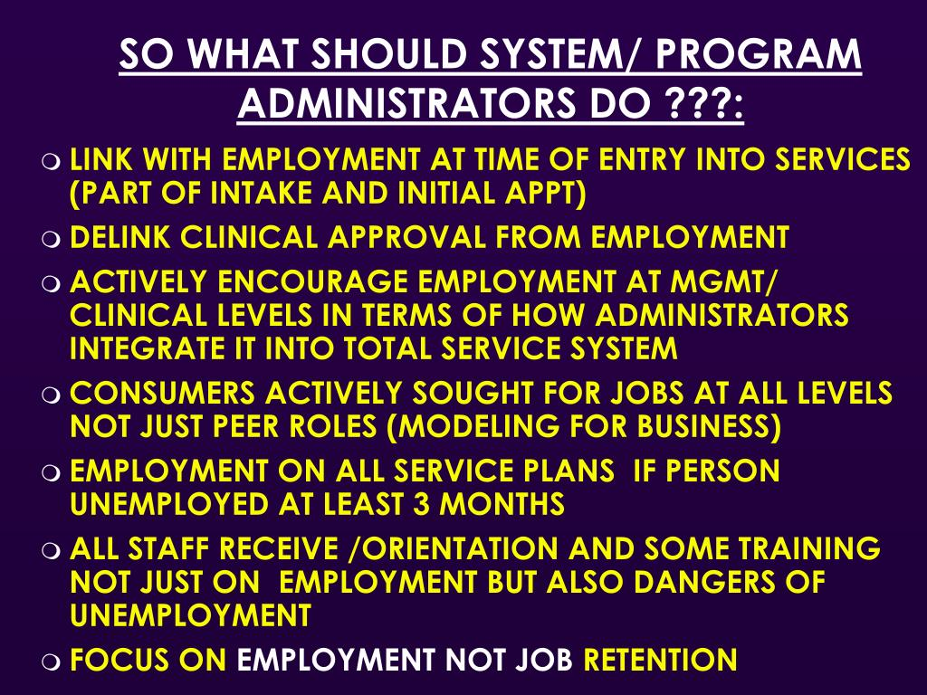 SO WHAT SHOULD SYSTEM/ PROGRAM ADMINISTRATORS DO ???: