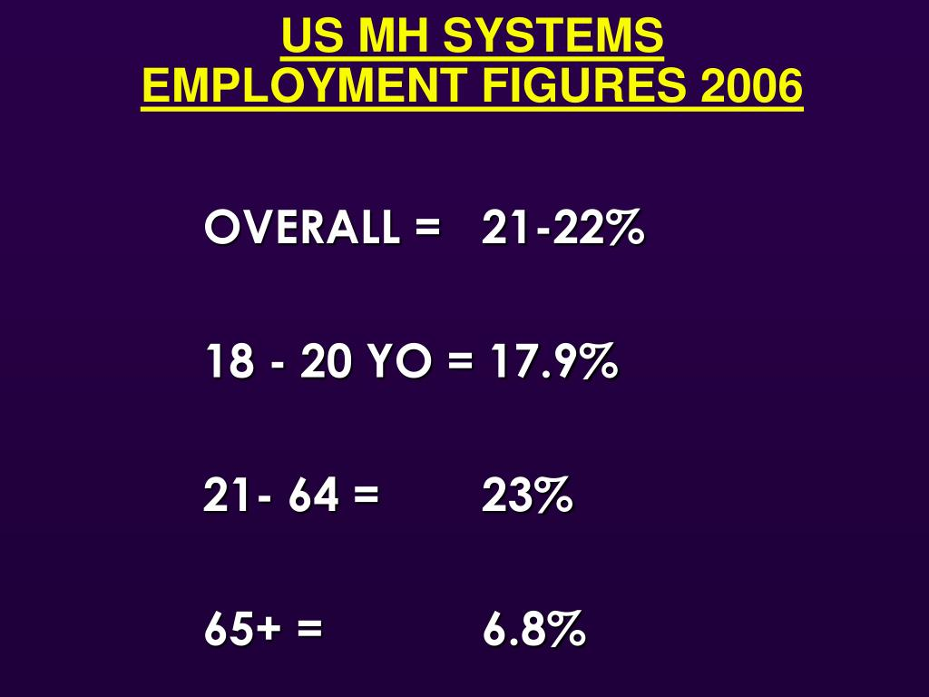 US MH SYSTEMS                          EMPLOYMENT FIGURES 2006