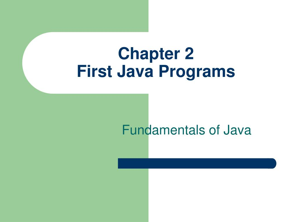 chapter 2 first java programs l.
