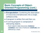 basic concepts of object oriented programming cont38