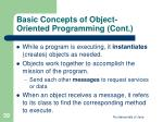 basic concepts of object oriented programming cont39