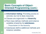 basic concepts of object oriented programming cont40