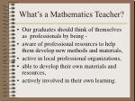 what s a mathematics teacher