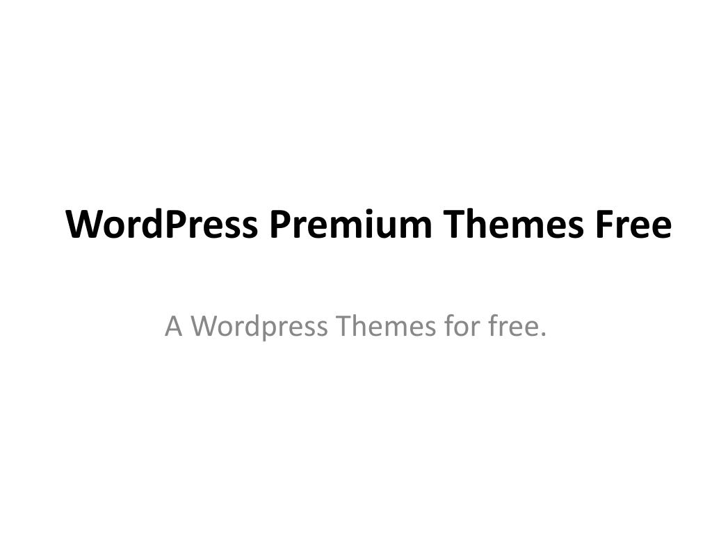 wordpress premium themes free l.