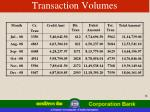 transaction volumes