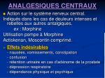 analgesiques centraux