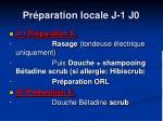 pr paration locale j 1 j0