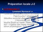 pr paration locale j 2