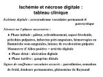 isch mie et n crose digitale tableau clinique