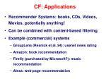 cf applications
