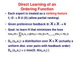 direct learning of an ordering function