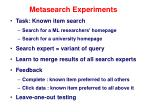 metasearch experiments