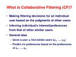 what is collaborative filtering cf