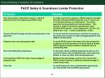 pace safety soundness lender protection