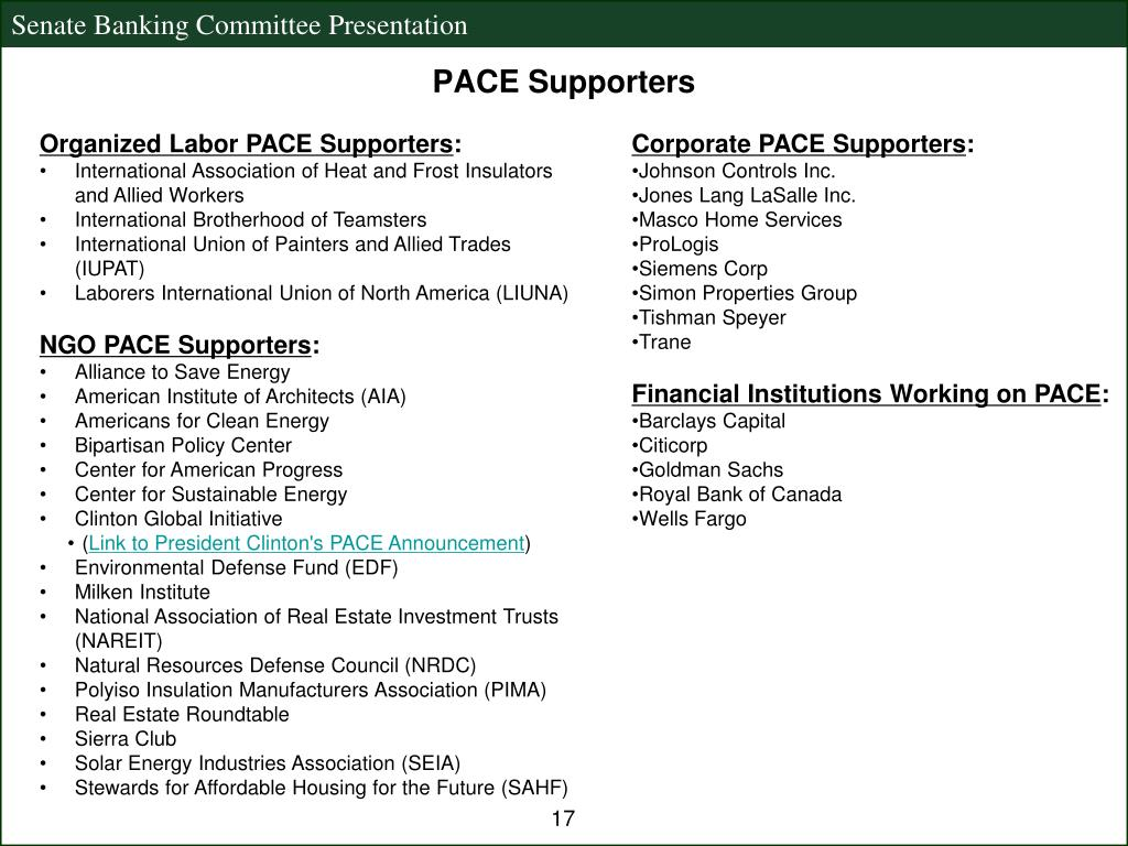 Organized Labor PACE Supporters