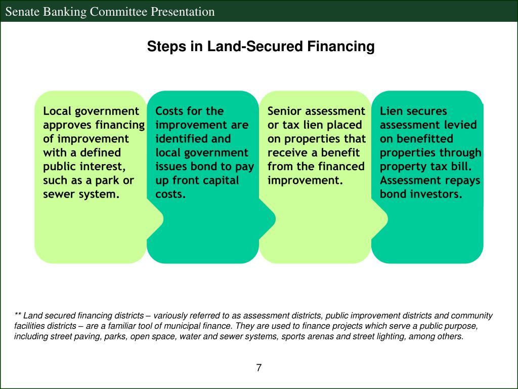 Steps in Land-Secured Financing
