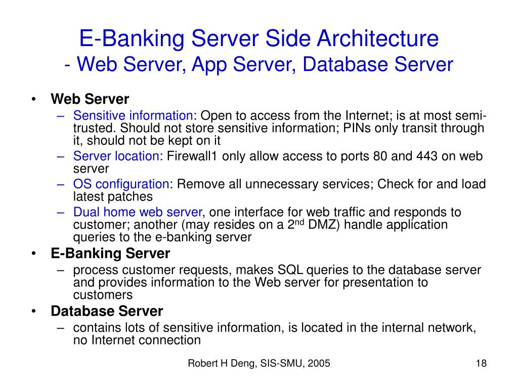E-Banking Server Side Architecture