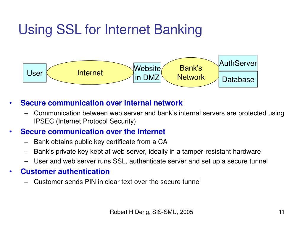 Using SSL for Internet Banking