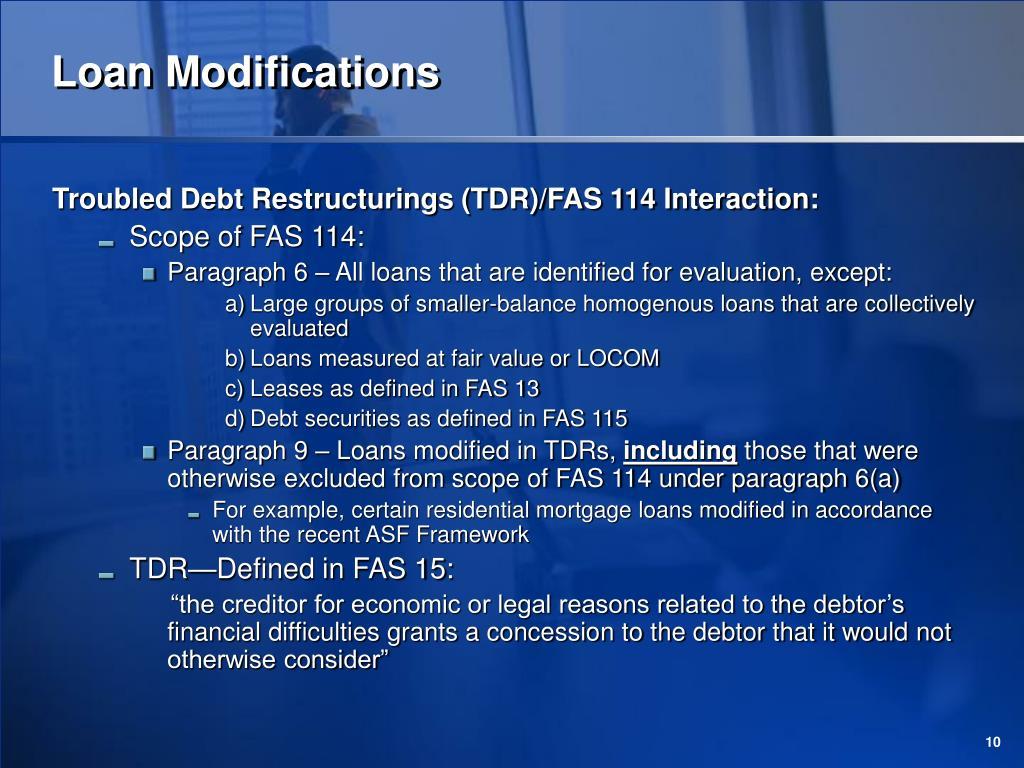 Loan Modifications