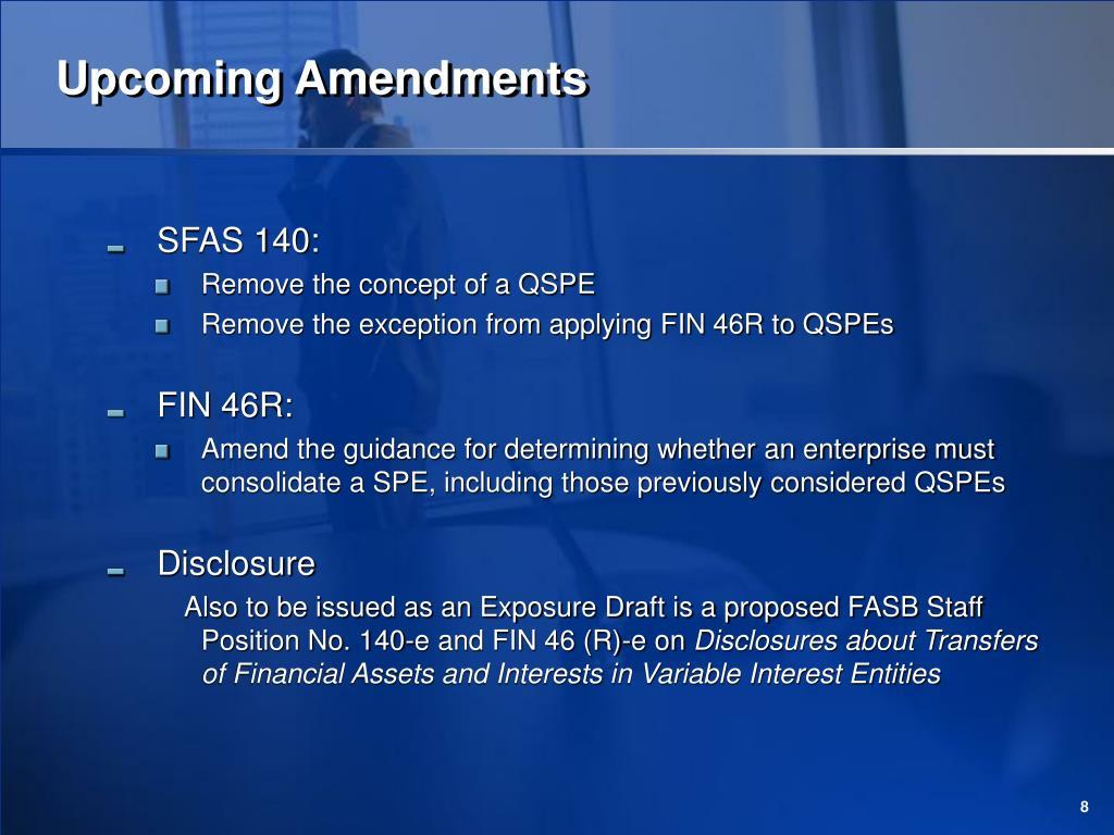 Upcoming Amendments